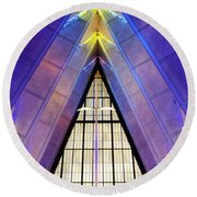 United States Air Force Academy Cadet Chapel 3 Round Beach Towel