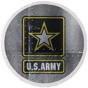 United States Army Logo On Steel Round Beach Towel