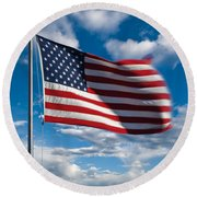 United States Of America Round Beach Towel by Steve Gadomski