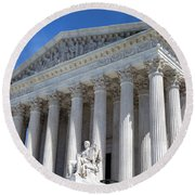 United States Supreme Court Building Round Beach Towel