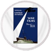 United States War Films Now Being Shown Round Beach Towel