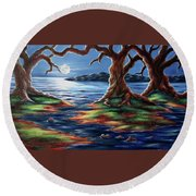 United Trees Round Beach Towel