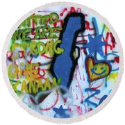 United We Are Strong Round Beach Towel