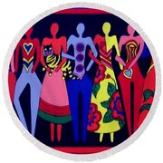 Unity 1 Round Beach Towel