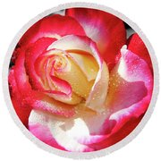 Unity Rose Round Beach Towel
