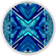 Simply The Blues Round Beach Towel