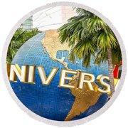 Universal Studio Globe Round Beach Towel