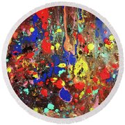 Universe Spaces Splash Round Beach Towel