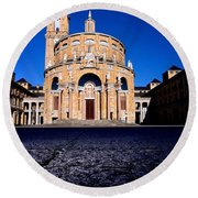 Universidad Laboral De Gijon Round Beach Towel