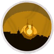 University  Minarets Round Beach Towel