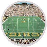 University Of Michigan Stadium, Ann Round Beach Towel