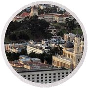 University Of San Francisco Aerial Photo Round Beach Towel