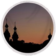 University Of Tampa Minarets - Close-up 26383 Round Beach Towel
