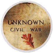 Unknown Civil War Round Beach Towel
