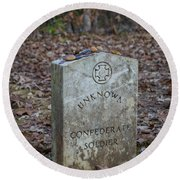 Unknown Confederate Soldier - Natchez Trace Round Beach Towel