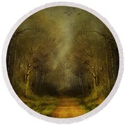 Unknown Footpath Round Beach Towel by Svetlana Sewell