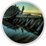 Unknown Shipwreck Round Beach Towel