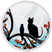 Unlikely Friends Round Beach Towel