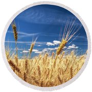 Unruly Beauty Round Beach Towel