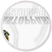 Unstoppable V2 Round Beach Towel