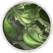Untitled 1-26-10 Pale Green Round Beach Towel