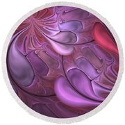 Untitled 1-26-10 Valentine  Round Beach Towel