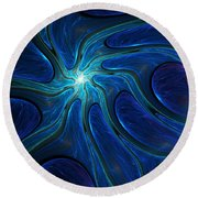 Untitled 4-10-10-b Round Beach Towel