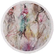 Untitled Round Beach Towel by Ikahl Beckford