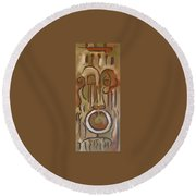 Untitled Siena Series Round Beach Towel