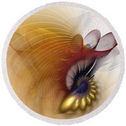 Untitled Study No.601 Round Beach Towel