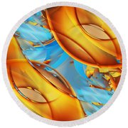 Untitled Xiii Round Beach Towel