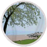 Try And Catch The Wind Round Beach Towel
