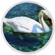 Unusual Beauty Round Beach Towel