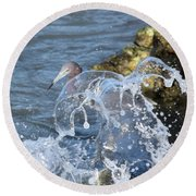 Unwavering Round Beach Towel