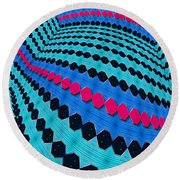 Up Across And Back Round Beach Towel