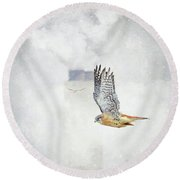 Up In Smoke Round Beach Towel