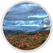 Up In The Clouds Blue Ridge Parkway Mountain Art Round Beach Towel