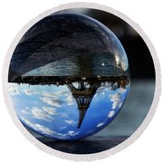 Up Side Down Round Beach Towel