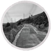Up That Hill Round Beach Towel