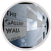 Up The Wall-the Gallery Wall Logo Round Beach Towel