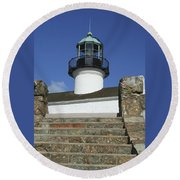 Up To The Light Round Beach Towel