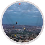 Up, Up And Away Round Beach Towel