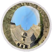 Upavon Church Round Beach Towel