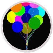 Upbeat Balloons Round Beach Towel