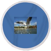 Upclose And Personal Round Beach Towel
