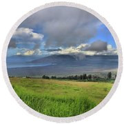 Upcountry Maui Round Beach Towel