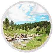 Upcreek  Round Beach Towel