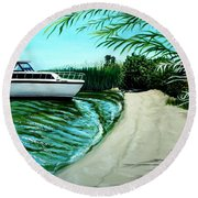 Upon Ashore Round Beach Towel