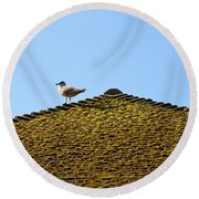 Upon The Roof Round Beach Towel