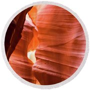 Upper Antelope Canyon 4 Round Beach Towel